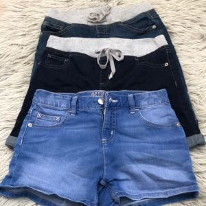 Justice Jean shorts three pairs size 14